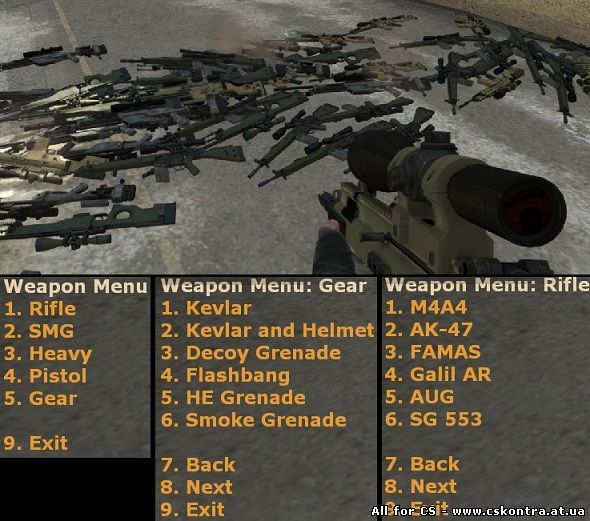 Скачать плагин для сервера CS:GO - Weapon Menu [оружейка для админа] бесплатно